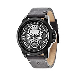 Police - Men's antique silver and grey watch