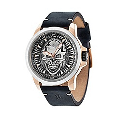 Police - Men's antique silver and black watch