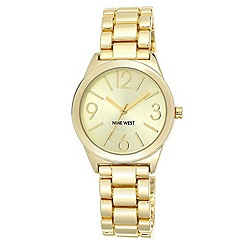 Nine West - Gold Tone Linked Bracelet Watch