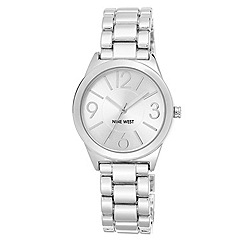 Nine West - Ladies' Silver Tone Linked Bracelet Watch