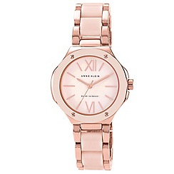 Anne Klein - Pink Plastic/Alloy bracelet watch