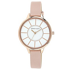 Anne Klein - Rose Gold-Tone Watch with Leather Strap
