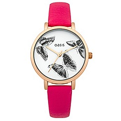 Oasis - Ladies pink strap watch