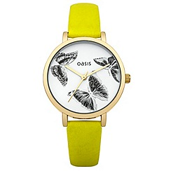 Oasis - Ladies lime strap watch