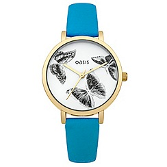 Oasis - Ladies blue strap watch