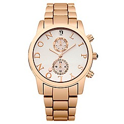 Lipsy - Ladies rose gold tone bracelet watch
