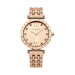 Lipsy - Ladies rose gold tone bracelet watch lp310