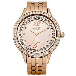 Lipsy - Lipsy gold tone bracelet watch
