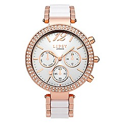 Lipsy - Ladies white bracelet watch