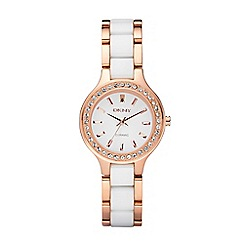 DKNY - Ladies fashion rose tone chambers watch