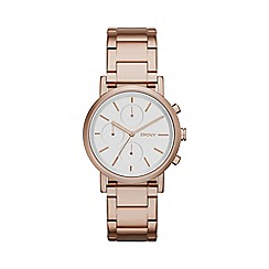 DKNY - Ladies rose gold fashion Soho chronograph watch