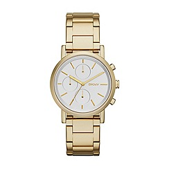 DKNY - Ladies gold fashion Soho chronograph watch