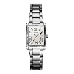 Guess - Women's silver bracelet watch with crystal details