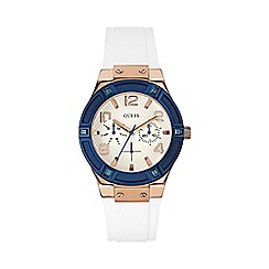 Guess - Ladies white silicone strap watch w0564l1