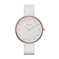 Skagen - Gitte Women s LeatheráWatch
