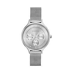 Skagen - Silver tone Anita stainless  steel mesh