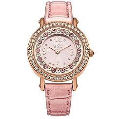 Lipsy - Ladies pink strap watch lp367