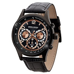 Jorg Gray - Men's black face signature Watch