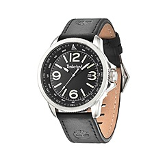 Timberland - Men's black dial black leather strap