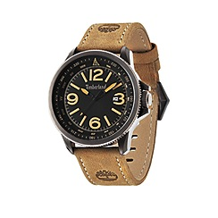 Timberland - Men's black dial brown leather strap