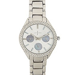 J by Jasper Conran - Ladies silver crystal bezel sports watch