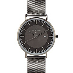 J by Jasper Conran - Men's black mesh sliding clasp watch