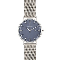 J by Jasper Conran - Men's silver mesh strap watch