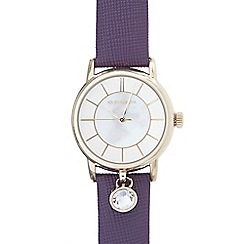 RJR.John Rocha - Ladies purple stone charm round watch