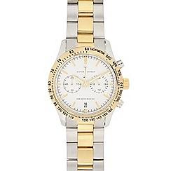 J by Jasper Conran - Men's silver plated mock chronograph watch