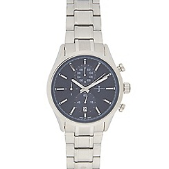 J by Jasper Conran - Men's silver plated mock chronograph watch