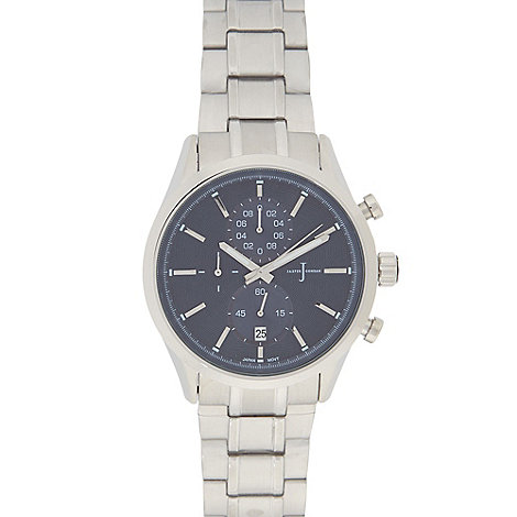 j by jasper conran s silver plated mock chronograph