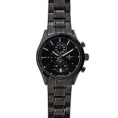 J by Jasper Conran - Men's black mock chronograph watch
