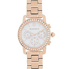 RJR.John Rocha - Ladies rose gold plated bracelet Swarovski case watch