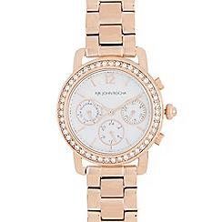 RJR.John Rocha - Ladies rose gold plated bracelet Swarovski case watch