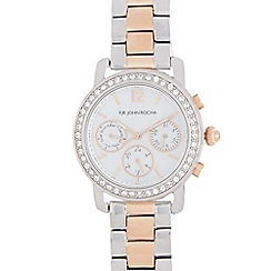 RJR.John Rocha - Ladies stainless steel two-tone bracelet Swarovski case watch