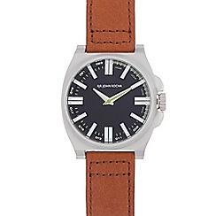 RJR.John Rocha - Tan leather strap tonneau watch