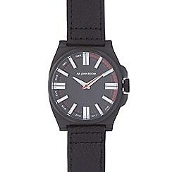 RJR.John Rocha - Black leather strap tonneau watch