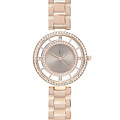 J by Jasper Conran - Ladies gold plated Swarovski bezel watch