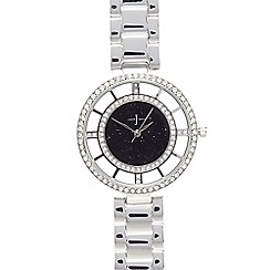 J by Jasper Conran - Ladies stainless steel Swarovski bezel watch