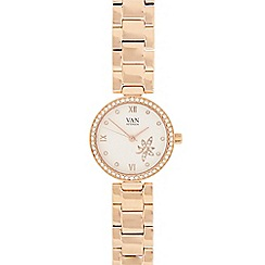 Van Peterson 925 - Ladies rose gold vermeil stone analogue watch