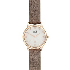 Van Peterson 925 - Ladies grey stone analogue watch