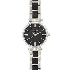 J by Jasper Conran - Ladies black regular t bar watch