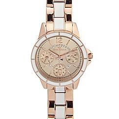 RJR.John Rocha - Ladies gold plated two tone bracelet watch