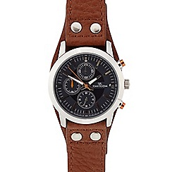 RJR.John Rocha - Men's tan leather cuff chronograph watch