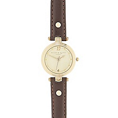 Bailey & Quinn - Ladies brown leather analogue watch