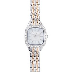 Bailey & Quinn - Ladies silver plated crystal bezel watch