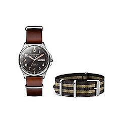Hammond & Co. by Patrick Grant - Men's watch with brown leather and nato straps