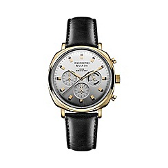 Hammond & Co. by Patrick Grant - Men's square chronograph watch with black leather strap
