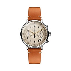 Hammond & Co. by Patrick Grant - Men's chronograph watch with tan leather strap