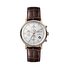 Hammond & Co. by Patrick Grant - Men's chronograph watch with brown leather strap